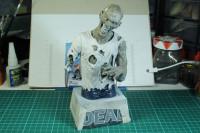 The Walking Dead Bust Paint in Progress