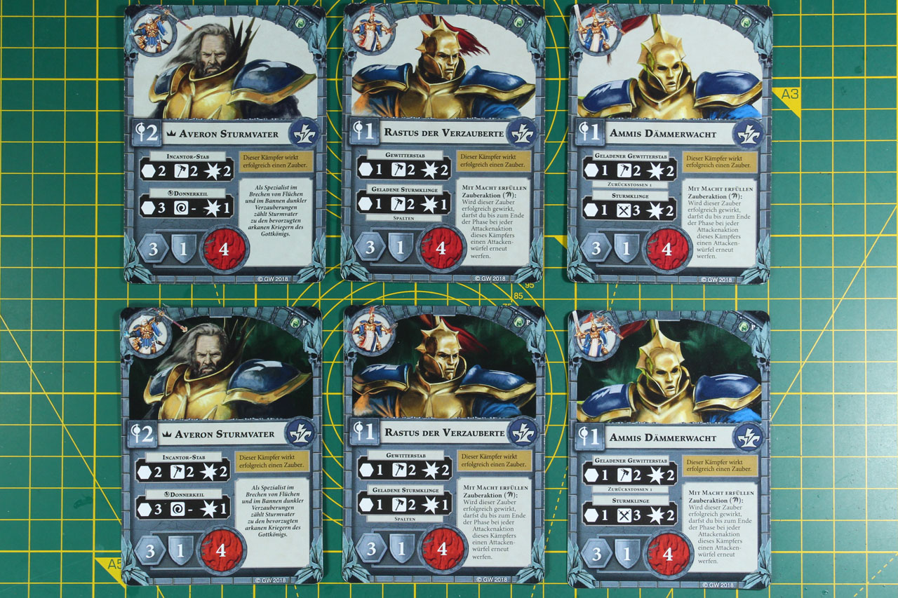 Warhammer Underworlds Shadespire Character Promo Cards and Activation Tokens
