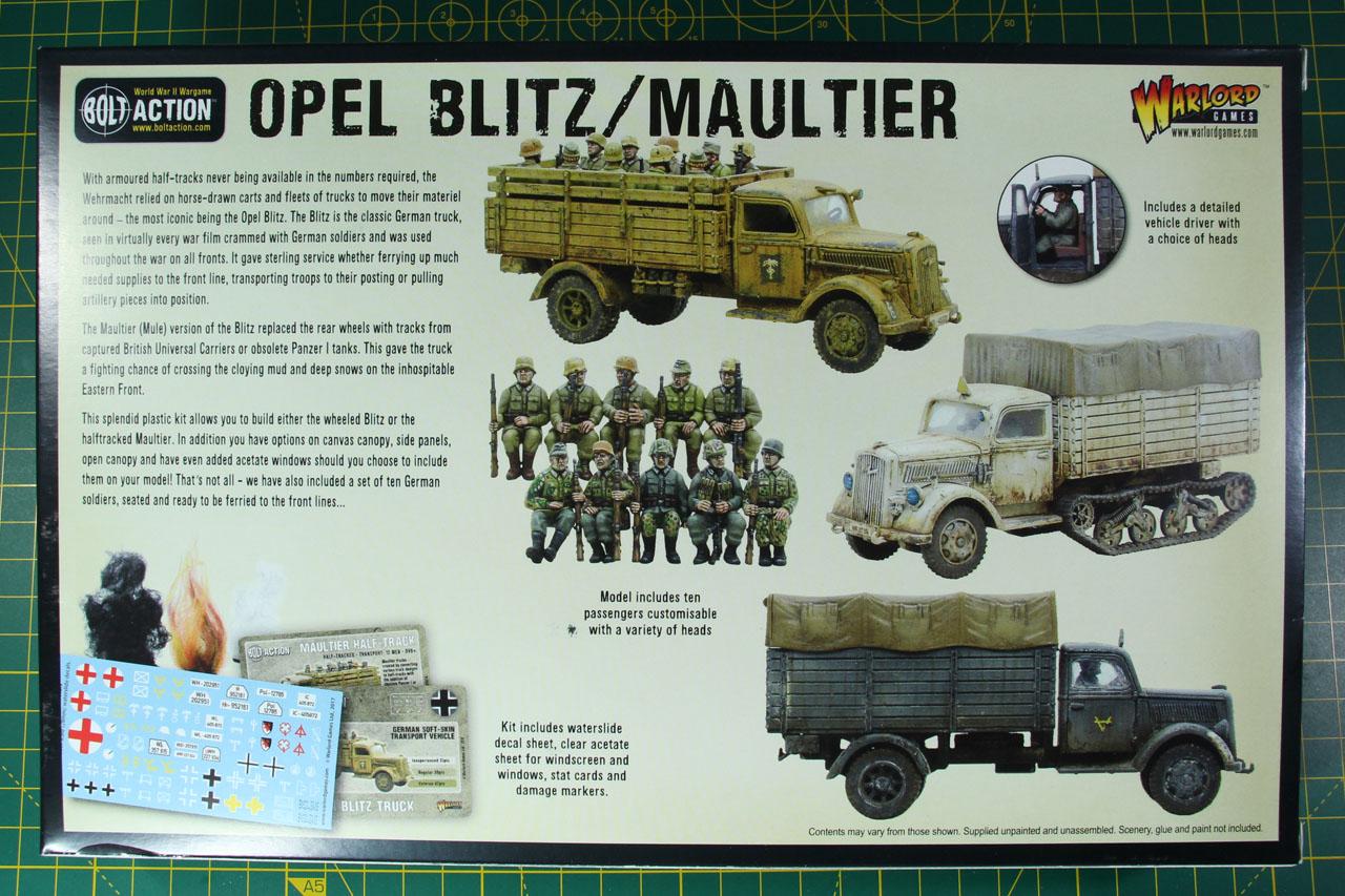 Bolt Action Opel Blitz Maultier Chaosbunker De