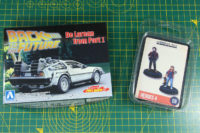Aoshima DeLorean and Crooked Dice Heroes 4
