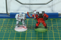 Games Workshop - Space Marine and Chaos Warrior