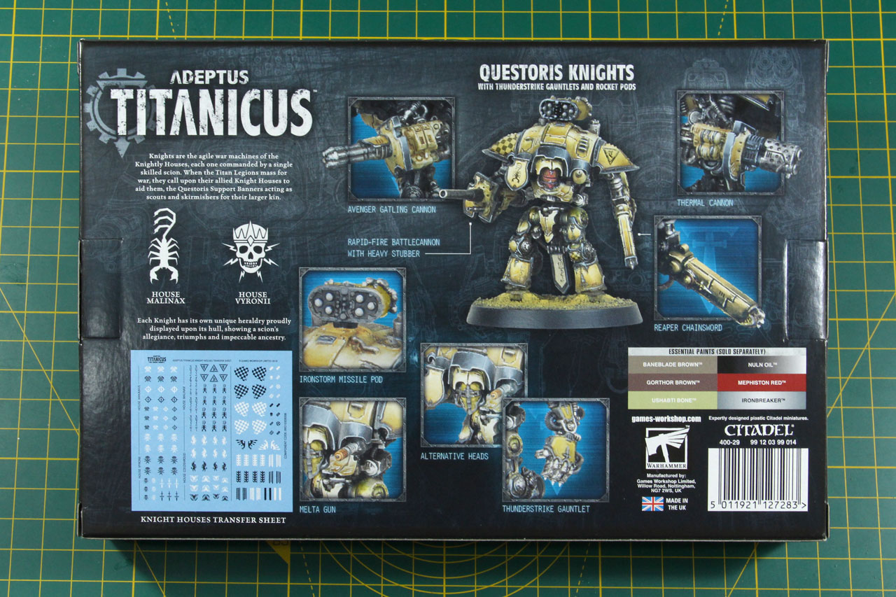 Imperial Knight 5-Weapon Upgrade Games Workshop Warhammer 40K  With Instructions