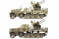 Sd.Kfz. 7 with and without armoured cab