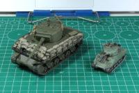Plastic Soldier Company - Sherman 15mm vs Rubicon 28mm